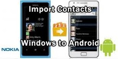 move contacts from windows to android