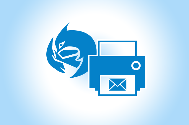 take printout of emails in thunderbird