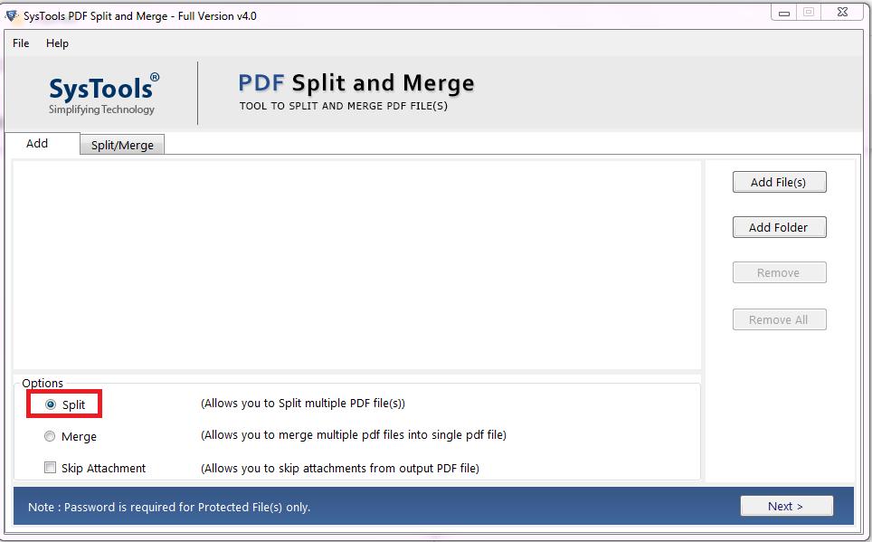 Split PDF into Multiple Files