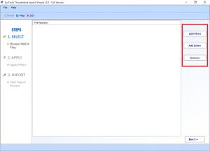 Add Folder or Add File options