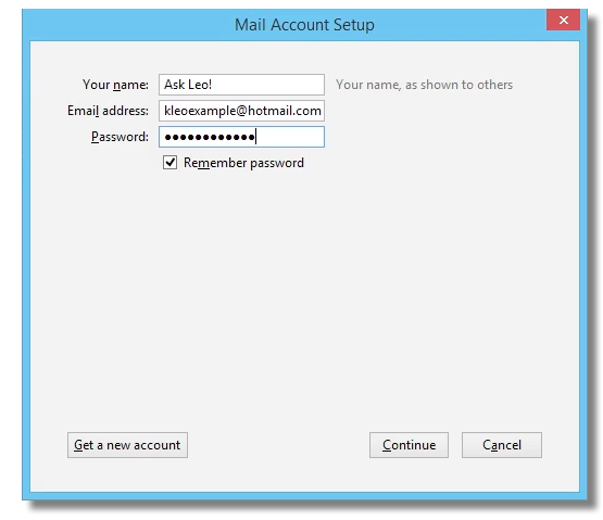 Export Hotmail to Thunderbird