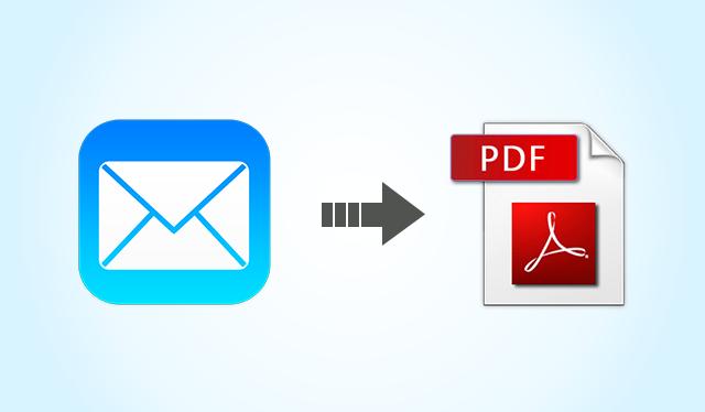 save email as pdf mac