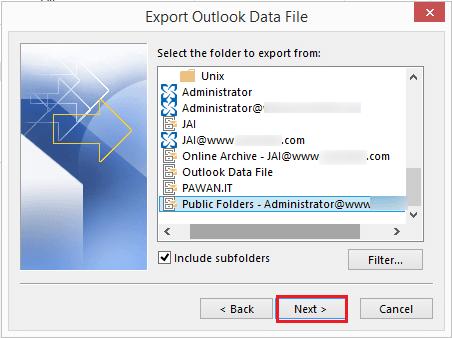select public folder