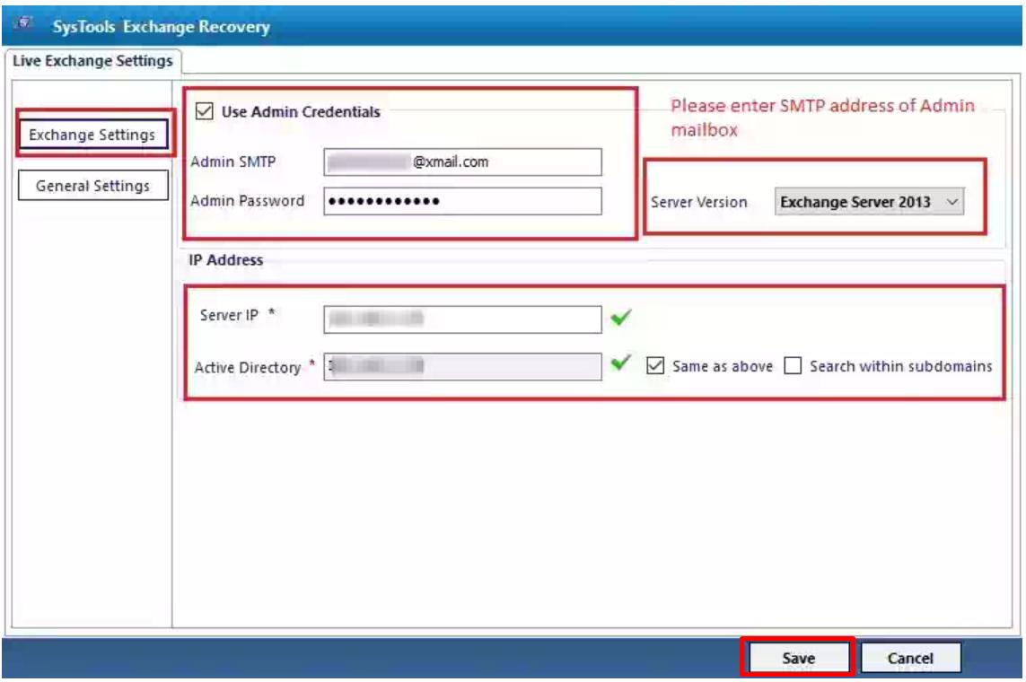 enter required exchange details