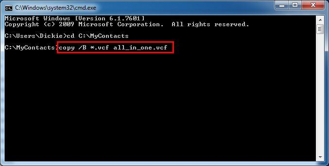 import multiple vCard files to Gmail-3