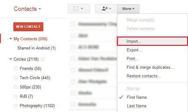 import multiple vCard files to Gmail-7