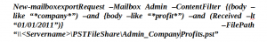 command to export exchange email