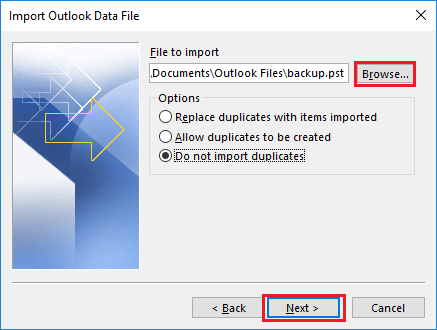 merge outlook pst without duplicates