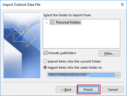 merge outlook pst files