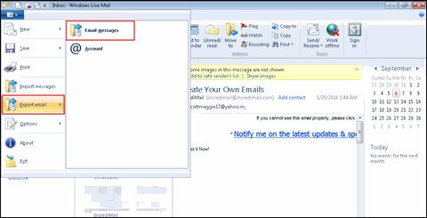 how to change windows live mail to outlook