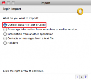 import PST file to Apple Mail