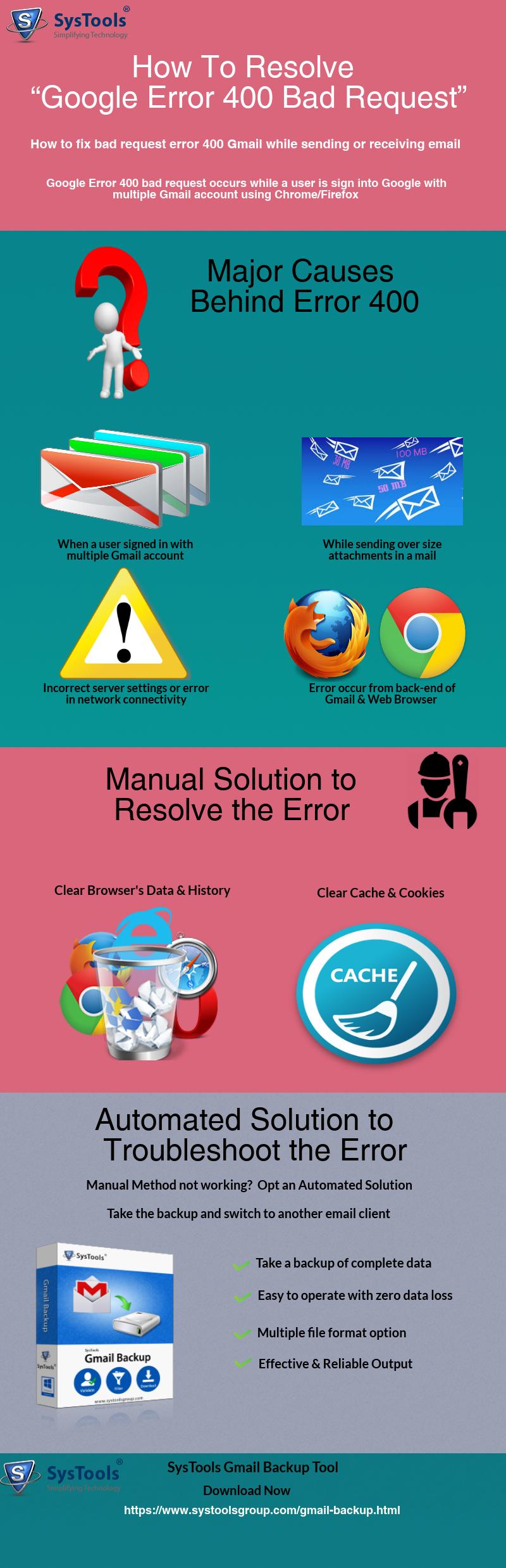 Gmail error 400 bad request