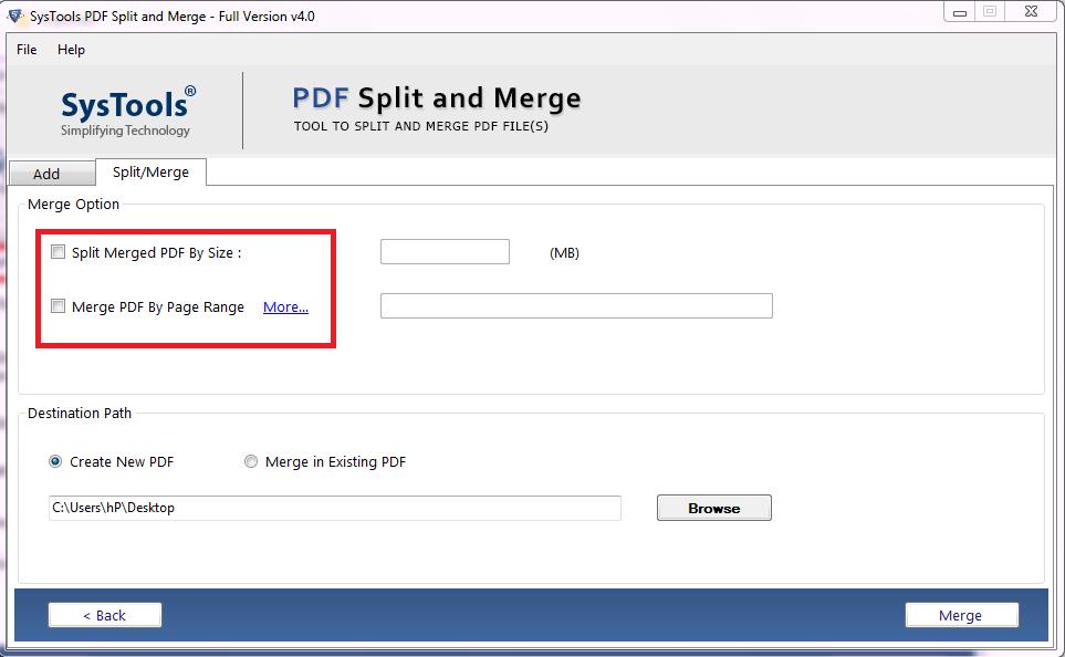 merge option
