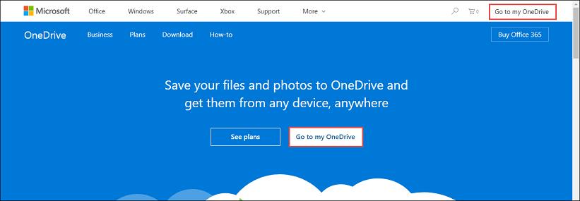 Login to OneDrive accounts