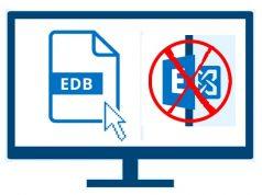 Open EDB files outside Exchange
