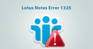 Lotus Notes Error 1325