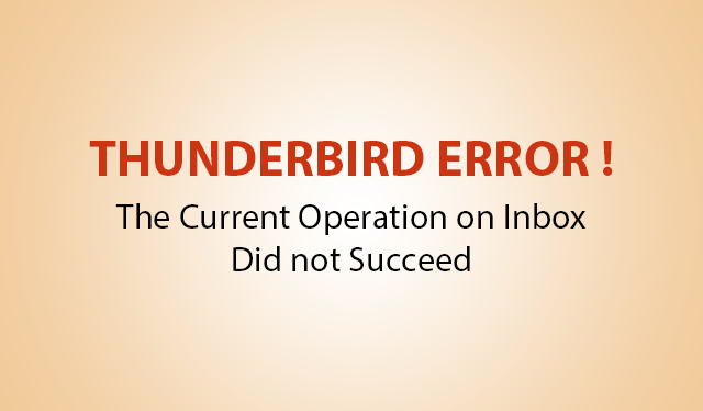 the current operation on inbox did not succeed