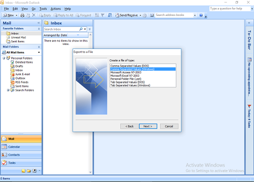 import outlook contacts to yahoo