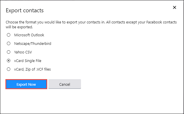 transfer contacts from yahoo to icloud