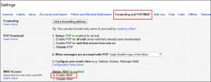 Forwarding and POP/IMAP