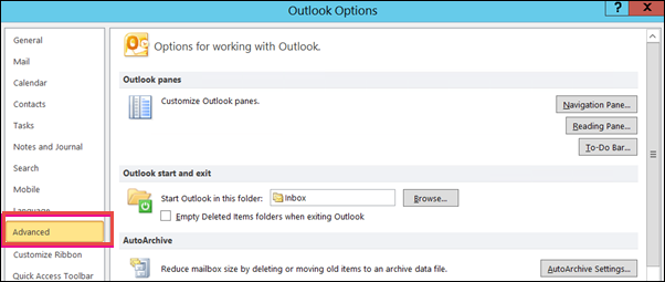 Export Outlook Contacts to Gmail using Import / Export Wizard