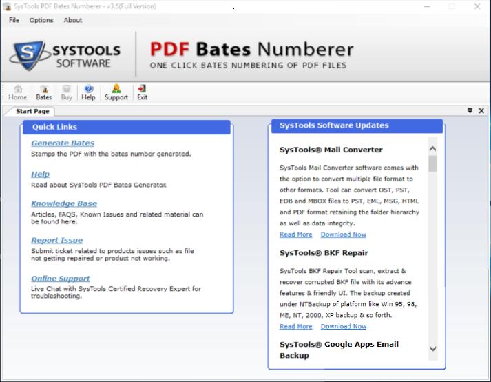 run pdf bates numbering tool