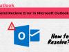 send receive error in outlook