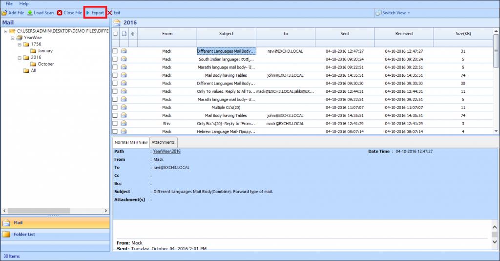 restore edb file