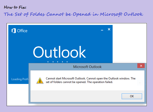 Cannot Open The Outlook Window >> Fix The Set Of Folders Cannot Be Opened In Microsoft Outlook 2010