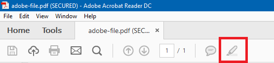 adobe acrobat highlight tool not working