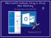 ms outlook drag and drop error
