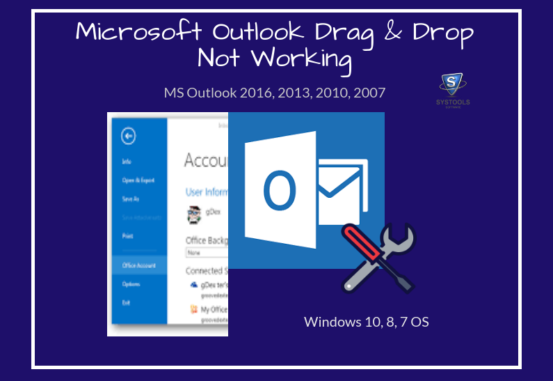 Microsoft Outlook 2016 Drag And Drop Not Working in Windows