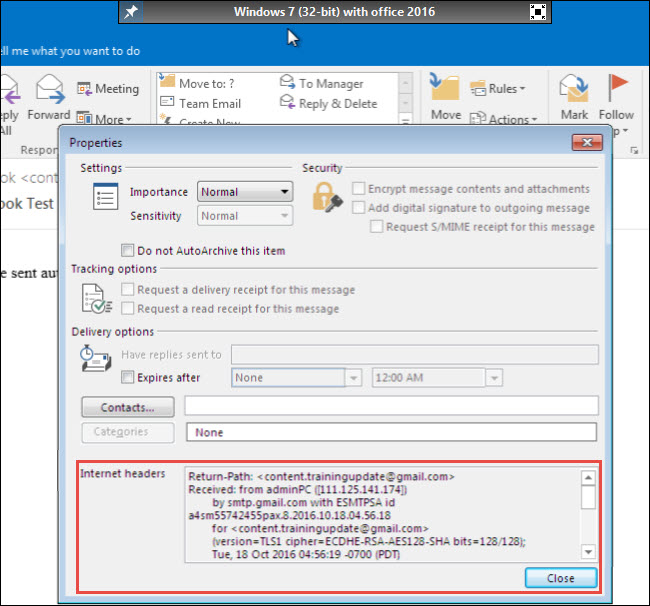 Investigate Email Forensics in Outlook