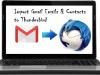 import gmail to thunderbird