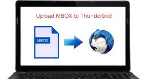 upload MBOX file