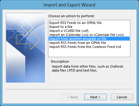 Import option