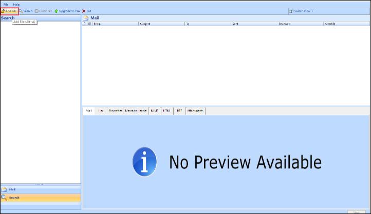 View Entourage MBOX Files Tool