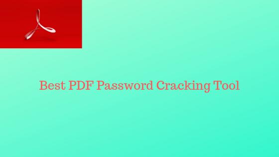 free download pdf password cracker