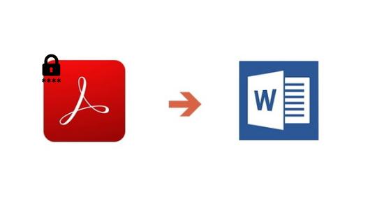 convertir un pdf protégé par mot de passe en word