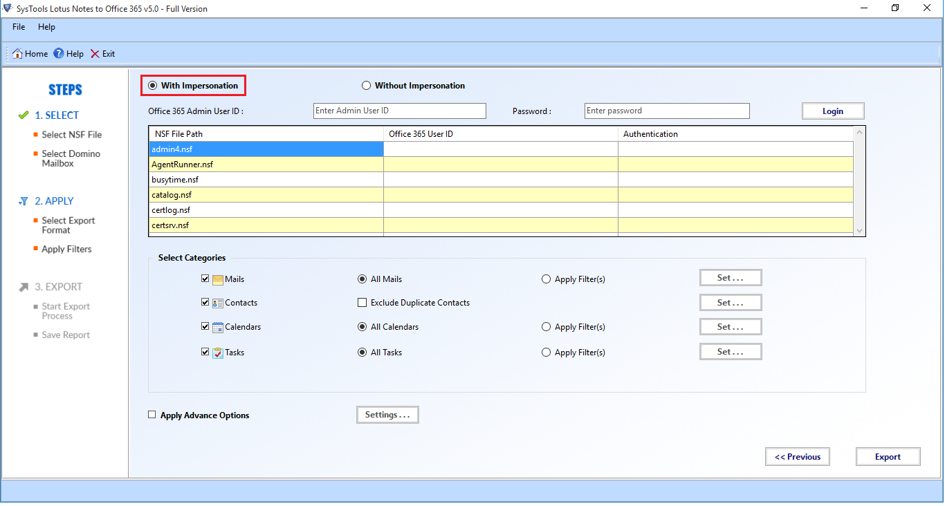 export lotus notes to office 365