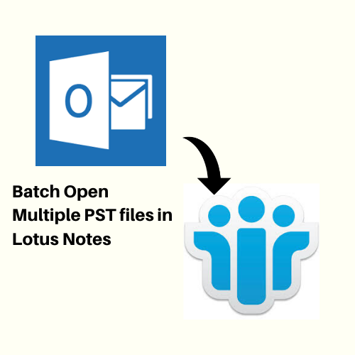 import multiple PST files in Lotus Notes