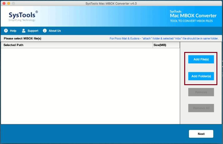exportierte MBOX-Datei