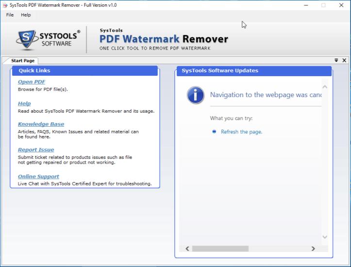 start PDF Watermark deletion tool