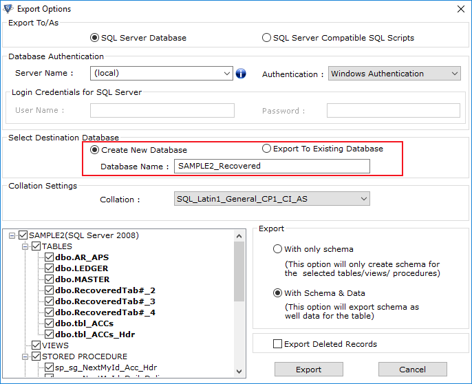Restore SQL Database with a Different Name