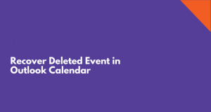 recover deleted event in Outlook calendar