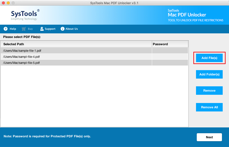 add bulk pdf files