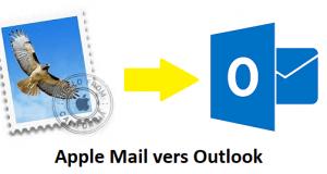 mac apple mail vers outlook
