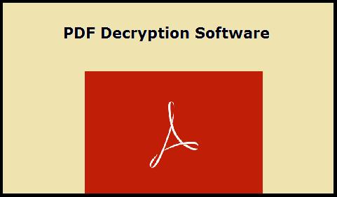 pdf password decryption software