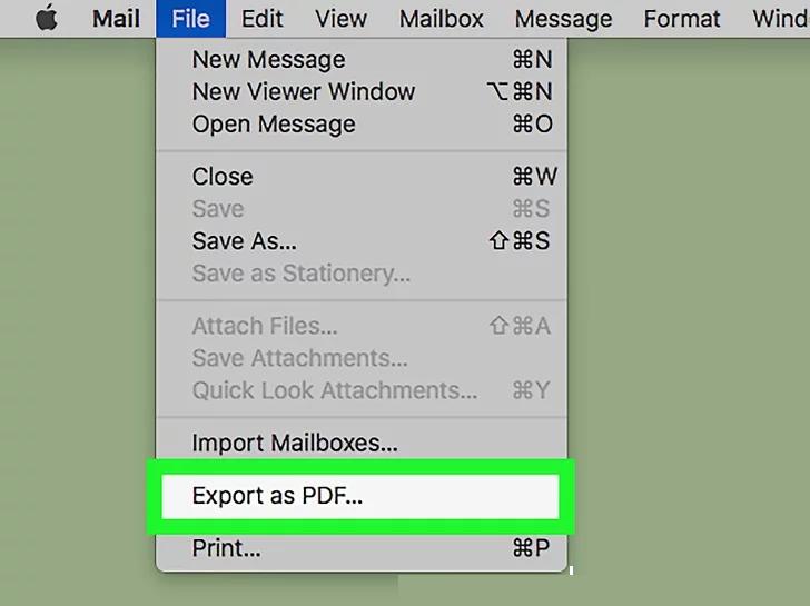 pdf exportieren