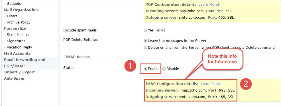 Migrieren von Zoho Mail nach Gmail